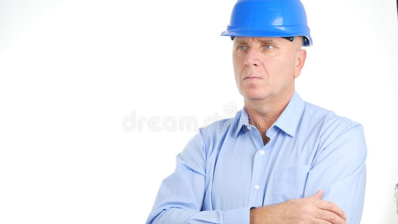 Engineer Portrait Looking Confident in a Business Presentation stock images