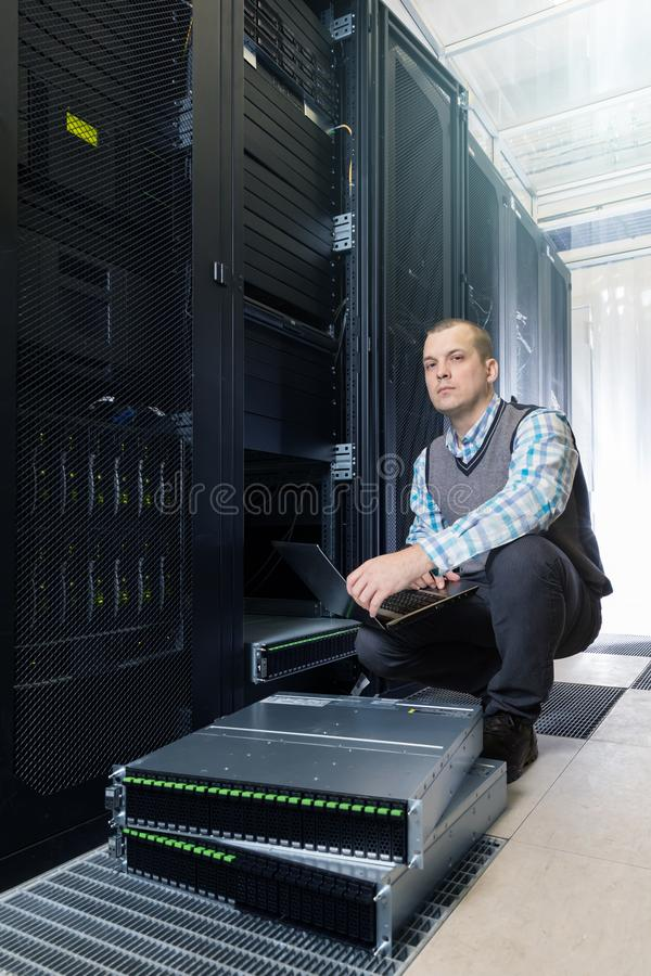 Hard disks drive in the storage system royalty free stock images