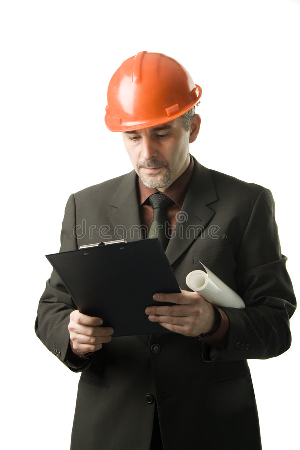 Engineer reading stock images