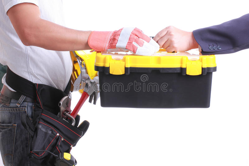 Download Engineer Show Hand For Give Like To Worker Stock Photo - Image: 32691912