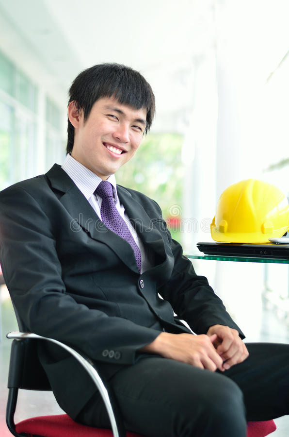 Engineer in success face. Close up of Engineer in success face stock photos