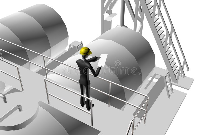Engineer supervising industrial site royalty free stock photo