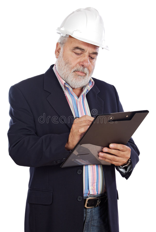 Download Engineer taking notes stock image. Image of positive, person - 3382715