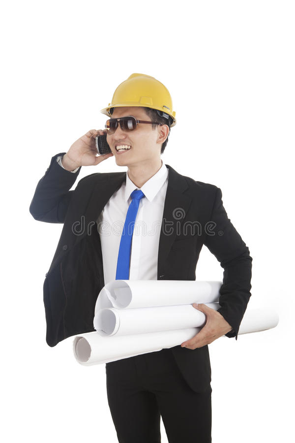 Download Engineer Talking On The Phone Stock Photo - Image: 23445918