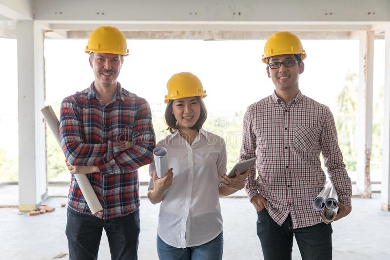 Engineer team stock image