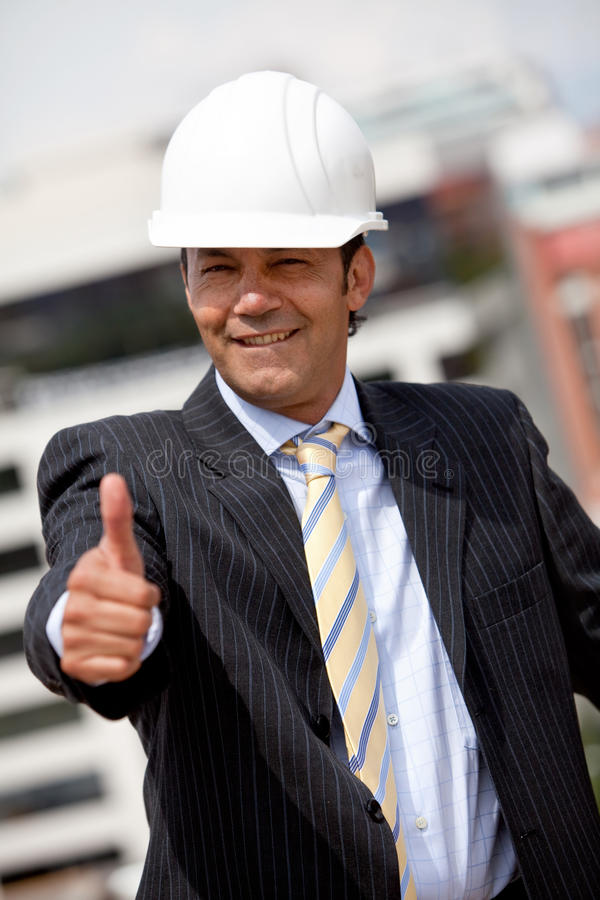 Download Engineer with thumb up stock photo. Image of person, engineer - 14628438