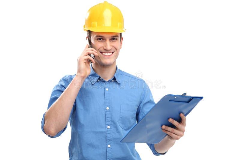 Download Engineer wearing hardhat stock image. Image of student - 29049961