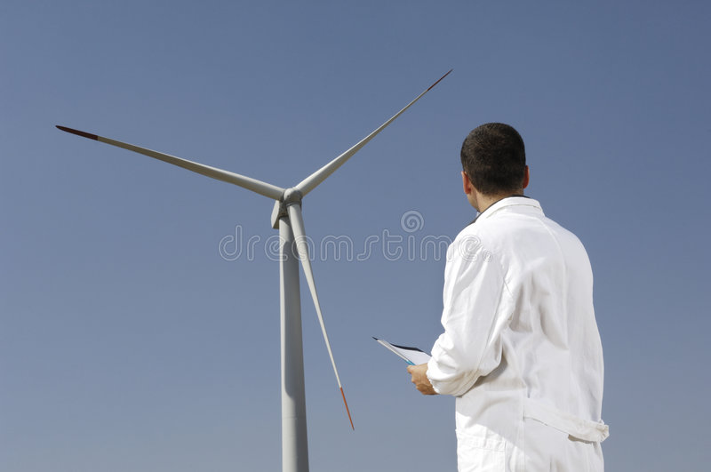 Download Engineer and wind turbines stock image. Image of blade - 8688639