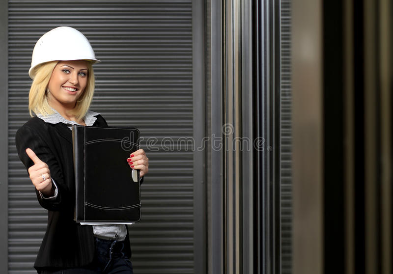 Download Engineer woman stock photo. Image of blue, background - 19215496