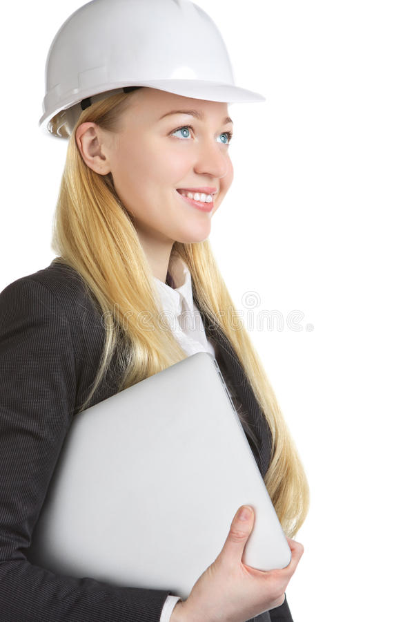 Engineer Woman With Laptop stock images