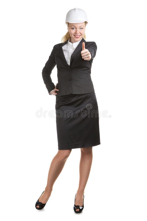Engineer Woman Thumbs Up royalty free stock photo