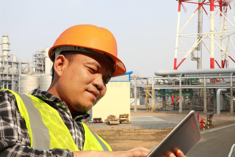 Engineer on the work stock image