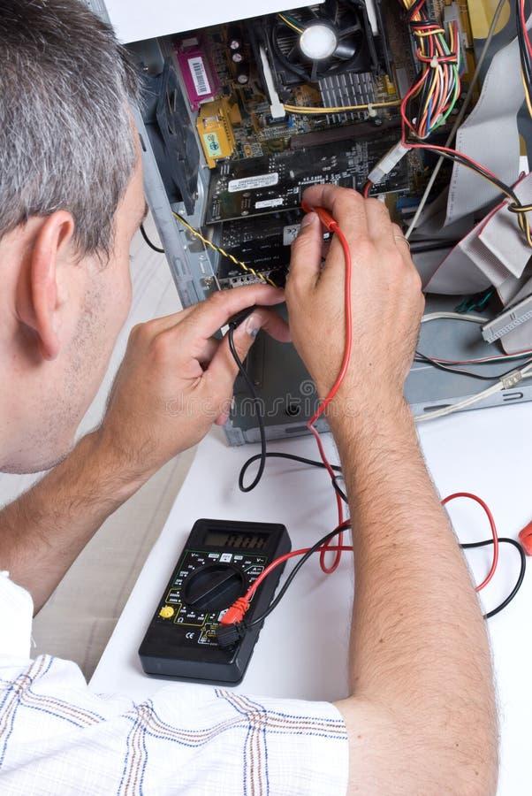 IT Engineer Working. Close-up stock photos