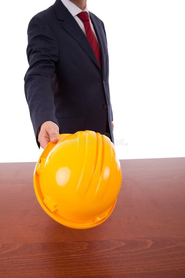 Engineer yellow helmet