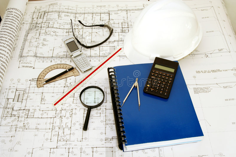 Engineering (Architecture) Drawings royalty free stock photography