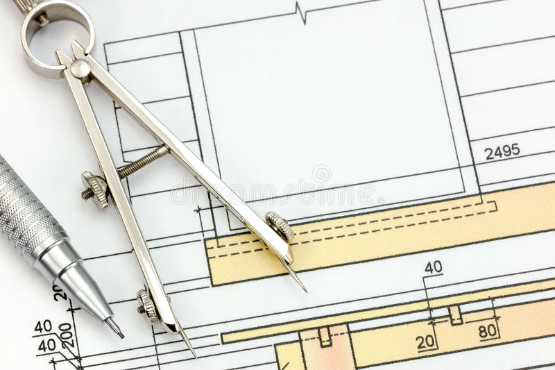 Engineering blueprint with drawing tools top view stock photo download engineering blueprint with drawing tools top view stock photo image of document scale malvernweather Gallery