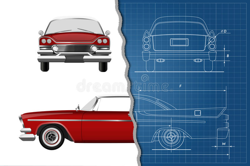Engineering blueprint of retro car vintage cabriolet front side download engineering blueprint of retro car vintage cabriolet front side and back view malvernweather Gallery
