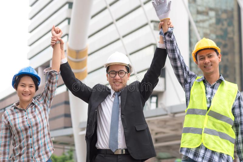 Engineering construction concept : professional engineer team me stock images