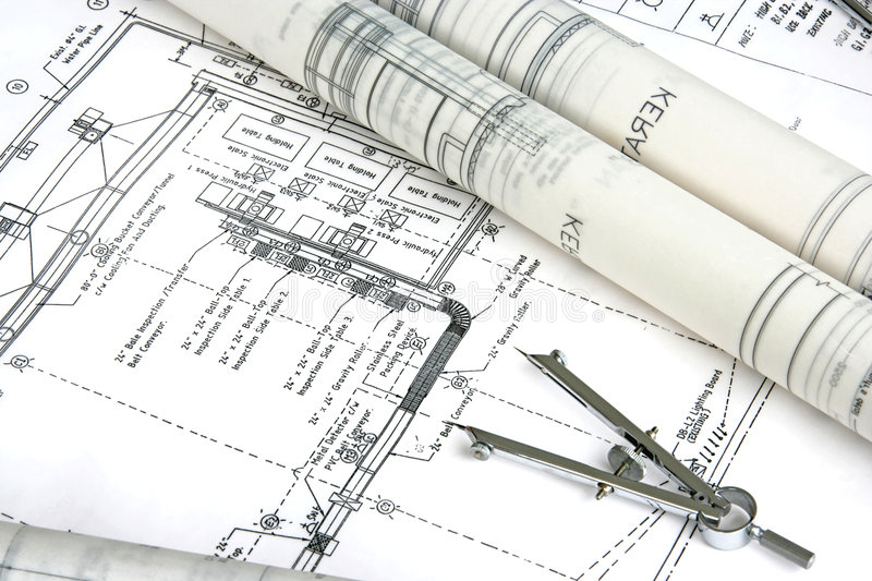 Engineering Design And Drawing Stock Image Image of