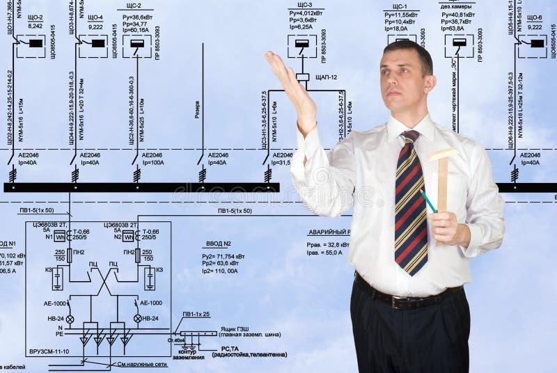 Engineering designing royalty free stock photo