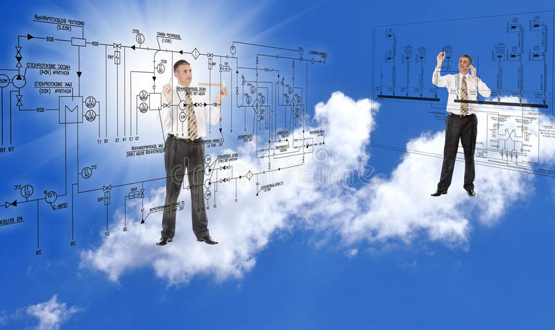 Engineering designing stock image
