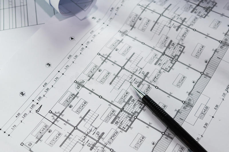 Engineering diagram blueprint paper drafting project stock image download engineering diagram blueprint paper drafting project stock image image of construction building malvernweather Choice Image
