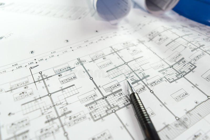Engineering diagram blueprint paper drafting project sketch stock download engineering diagram blueprint paper drafting project sketch stock image image of business layout malvernweather Image collections