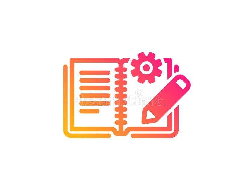 Engineering documentation icon. Technical instruction sign. Vector vector illustration