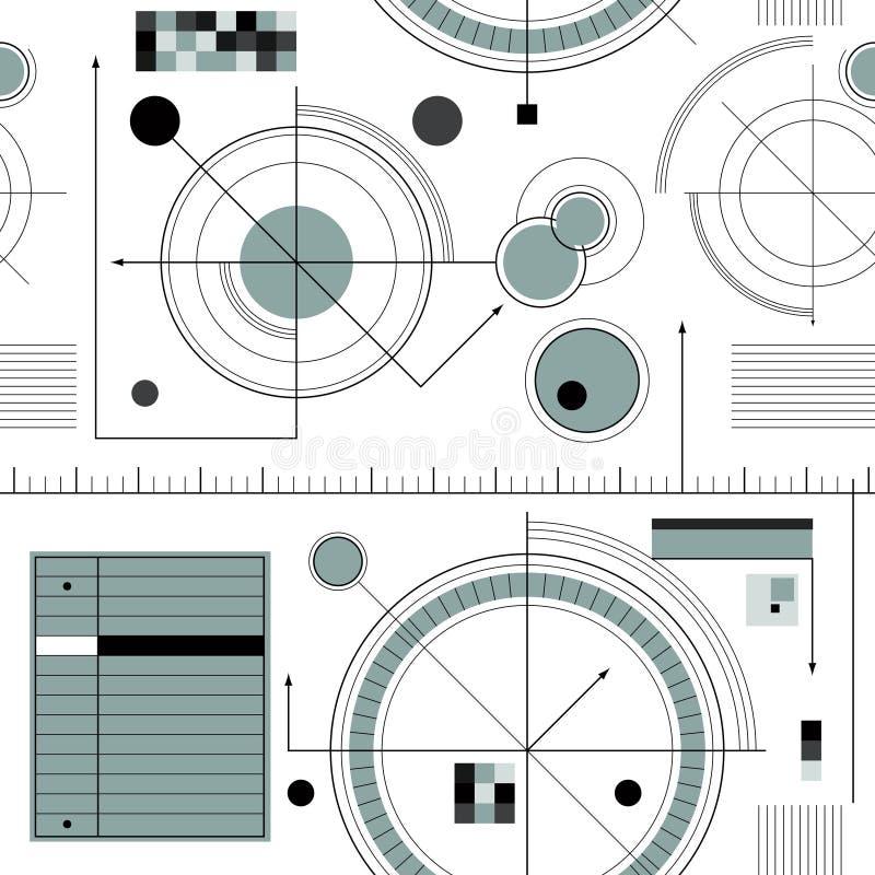 Engineering draft pattern stock illustration