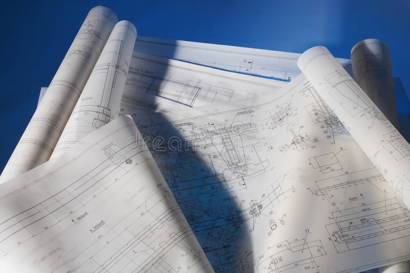 Download Engineering drawing stock photo. Image of construction - 2321026