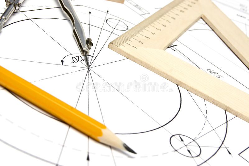 Download Engineering Drawing Equipment Stock Image - Image of outline, engineering: 19335549