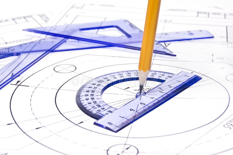 Download Engineering Drawing Equipment Stock Image - Image: 19335615