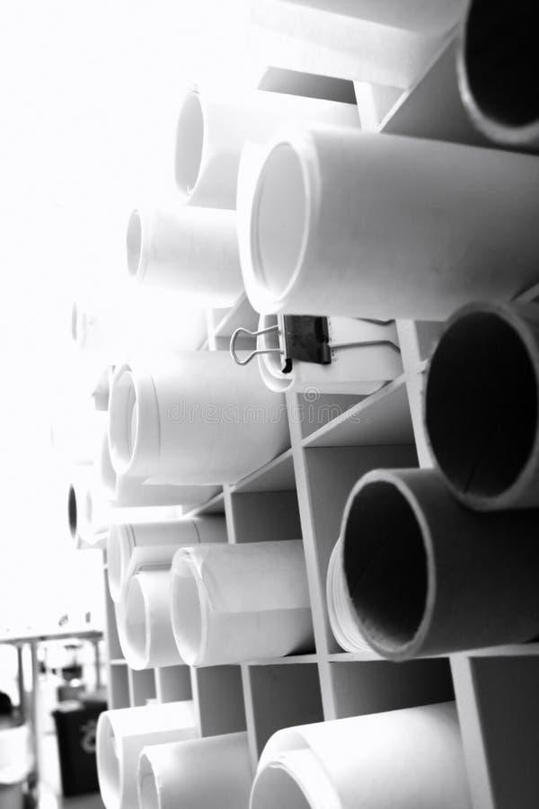 Download Engineering drawing rolls stock image. Image of engineering - 1651603