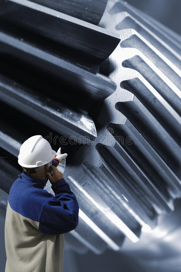 Engineering and gear machinery royalty free stock images