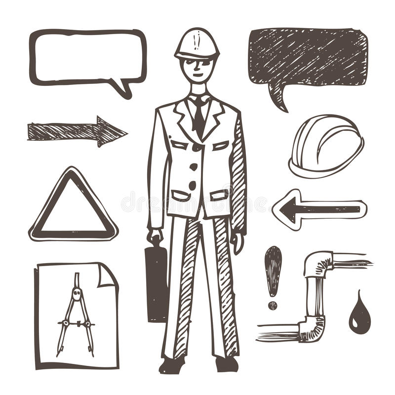 Download Engineering icons set stock vector. Image of engineer - 25014174