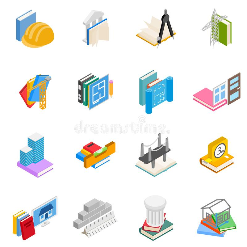 Engineering research icons set, isometric style. Engineering research icons set. Isometric set of 16 engineering research vector icons for web isolated on white vector illustration