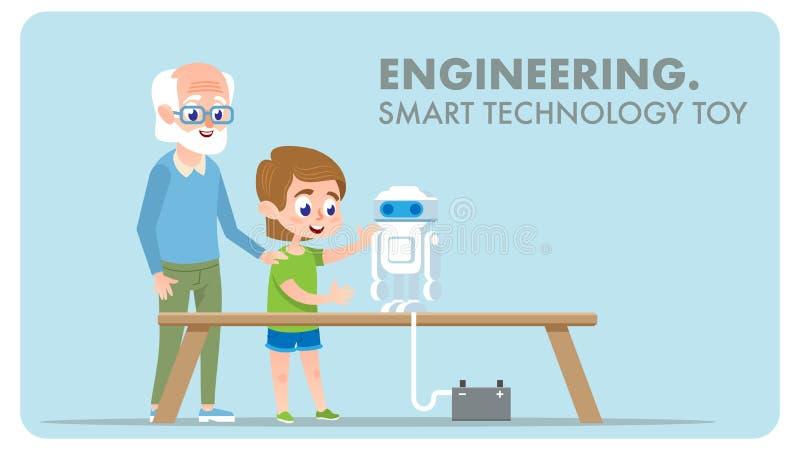 Engineering Smart Technology Toy. Digital Innovation. royalty free illustration