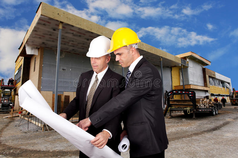 Engineering supervision stock photos