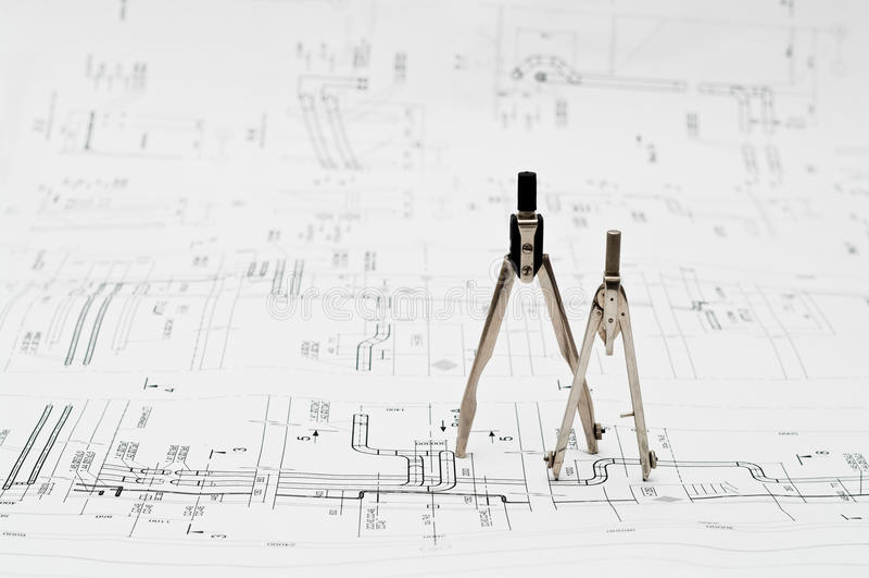 Engineering tools royalty free stock image