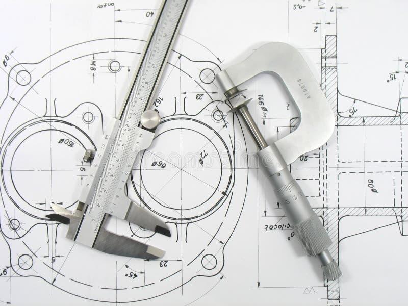 Engineering tools royalty free stock photo