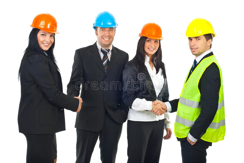 Download Engineers And Architects Teams  Handshakes Stock Photo - Image: 17316980