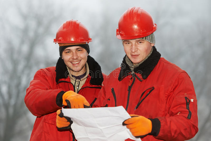 Download Engineers Builders At Construction Site Stock Image - Image: 28737601