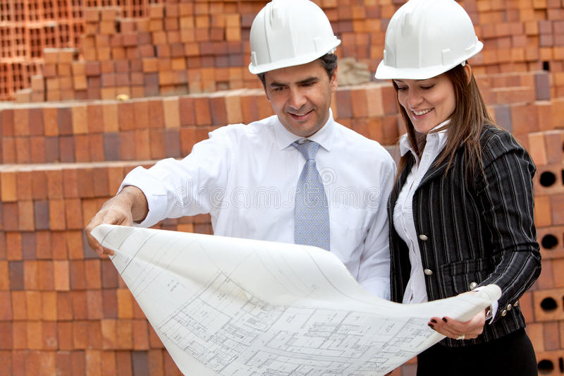 Download Engineers At A Construction Site Stock Image - Image of person, engineering: 25291239