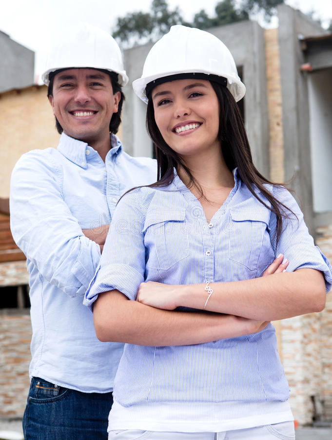 Download Engineers At A Construction Site Stock Photo - Image: 26932982