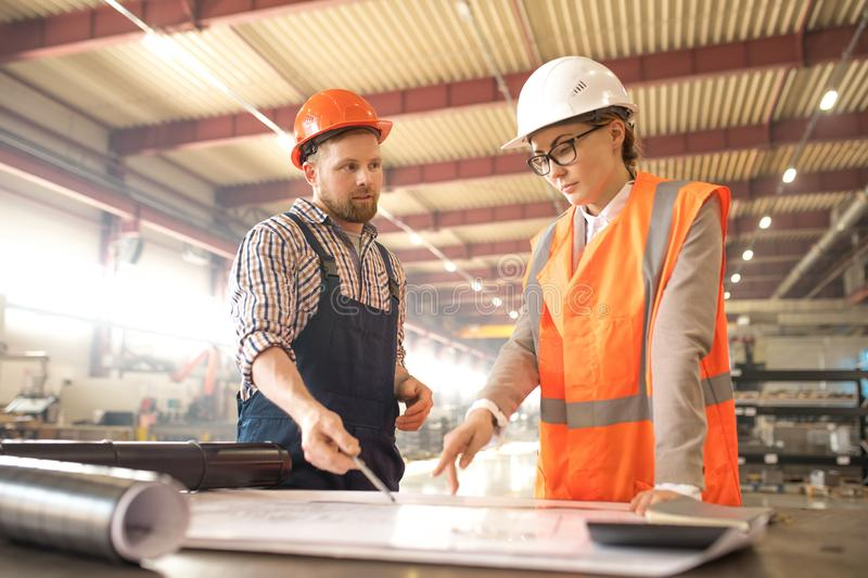 Engineers consulting stock photo