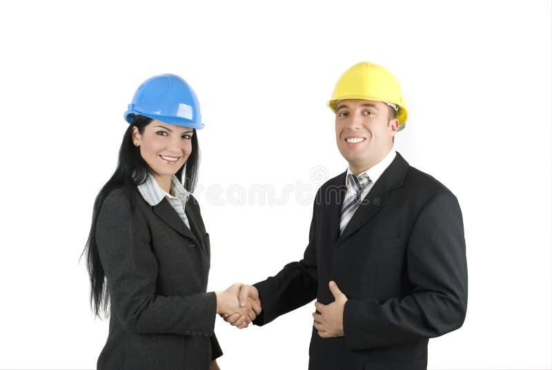 Download Engineers handshake stock image. Image of architect, deal - 7904599