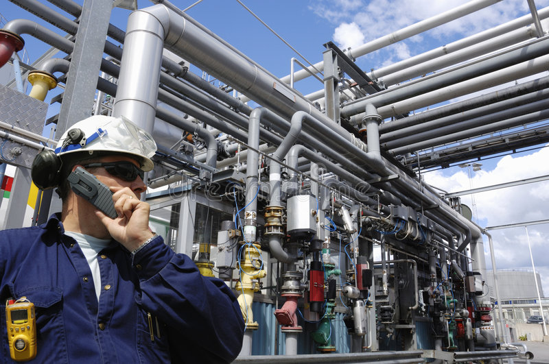 Engineers oil, gas and power stock photo