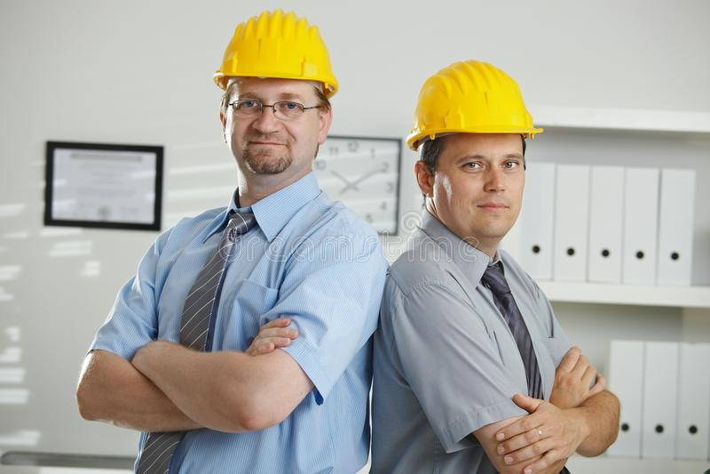 engineers ståenden royaltyfria foton