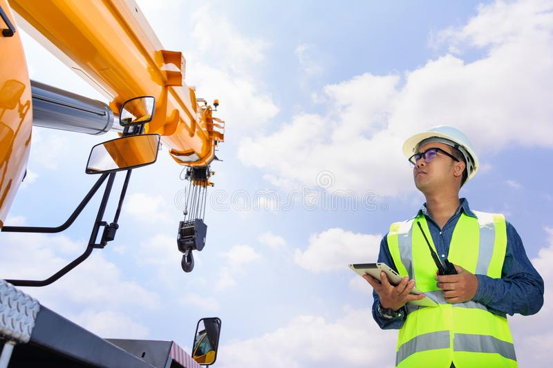 Engineers and Transportation. royalty free stock photo