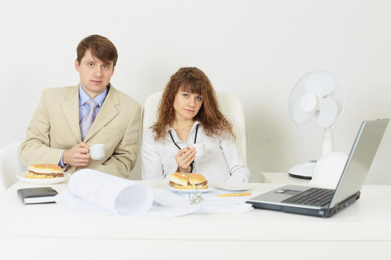 Download Engineers Were Going To Have A Snack At Office Stock Image - Image of coat, desk: 12233733